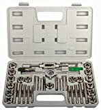 KECHUANG 40-Pieces Tap and Die Set SAE Standard Tap