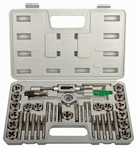 KECHUANG 40-Pieces Tap and Die Set SAE Standard
