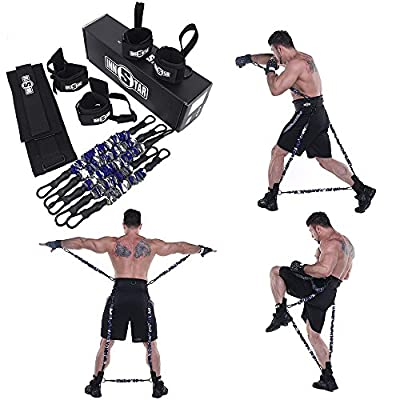 MMA Boxing Training Resistance Band Set Enhance Explosive Power Strength Training Equipment for Muay Thai,Karate Combat,Fitness,Basketball,Volleyball,Football Men&Women Provide of Customized Service