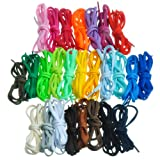 #10: BIRCH's Oval Shoelaces 27 Colors Half Round 1/4