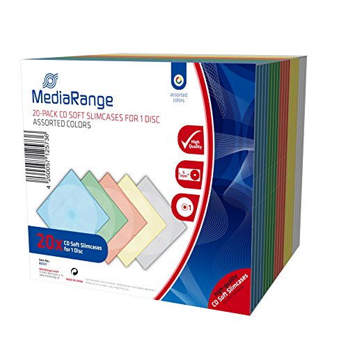 MediaRange CD/DVD Storage Media Case 20pcs, Plastic, Multi, BOX37 (20pcs, Plastic, Multi) by MEDIARANGE