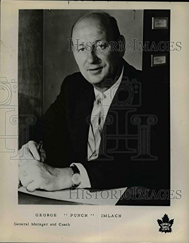 Vintage Photos Press Photo George Punch Imlack, General Manager and Coach Toronto Maple Leaf