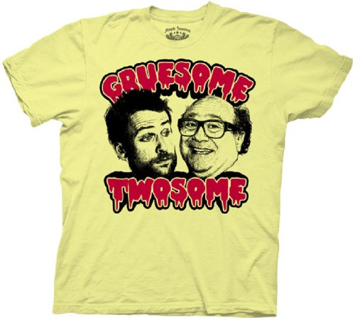 It's Always Sunny in Philadelphia Gruesome Twosome Charlie & Frank Yellow Adult T-shirt Tee (Medium) ()