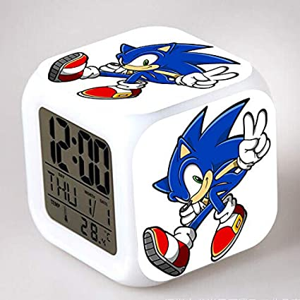 HHKX100822 Sonic Colorful Color Ing-Color Alarm Clock LED Quad Clock Childrens Creative Gift Small Alarm Clock 1