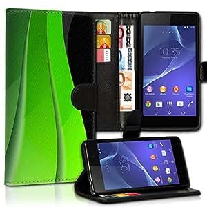 Wallet Wicostar–Funda Case Funda Carcasa diseño Funda para Samsung Galaxy S5Mini SM–G800–Diseño Flip mvd266