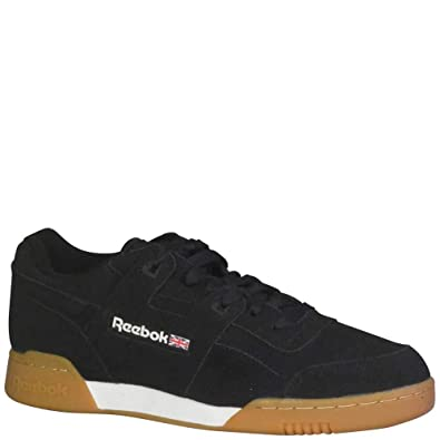 d3cd3f6f34e Reebok Men s Workout Plus EG Fashion Sneakers Black White Gum ...
