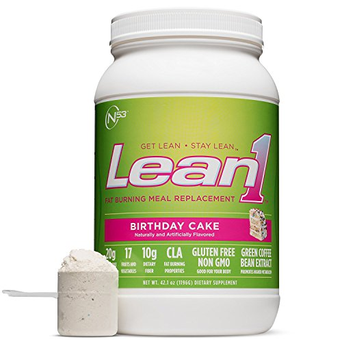 (Nutrition 53 Lean1, Birthday Cake, Lactose Free Protein Powder, 23 Serving Tub, 3 lbs.)