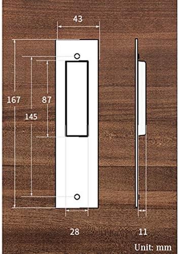 Empuñadura de aleación de Zinc empotrada manija de Puerta corredera Oculta gabinete manija de cajón manija Rectangular de Dedo Negro manija de Granero 167 mm x 43 mm (Color : Bronze): Amazon.es: Hogar