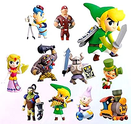 Amazon Legend Of Zelda Spirit Tracks 2 Inch PVC Set 11 Figures Toys Games
