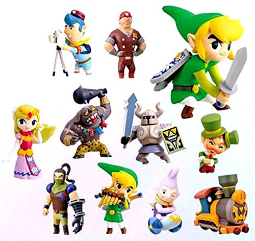 Legend of Zelda Spirit Tracks 2 Inch PVC Set of 11 Figures by Furuta