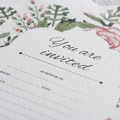 30 fill in vintage floral invitations with envelopes elegant 30 fill in vintage floral invitations with envelopes elegant wedding invitation cards bridal shower invites filmwisefo