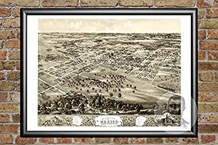 Amazon Com Ted S Vintage Art Old Map Of Mexico Missouri From 1869