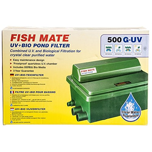 Fish Mate 500GUV Gravity UV+Bio Pond Filter