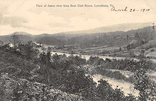 Boat Clubhouse - Lynchburg Virginia Boat Club House Birdseye View Antique Postcard K88482