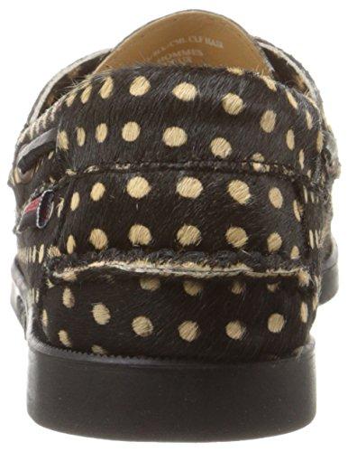 Hair Donna Calf Sebago Black Mocassini camel Docksides B4131 qwUwOxg0