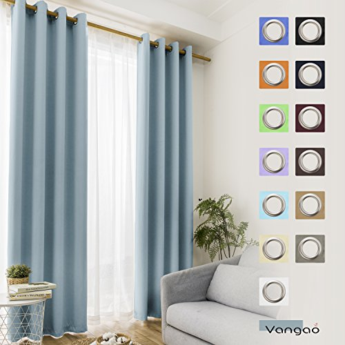 curtain light blue - 3
