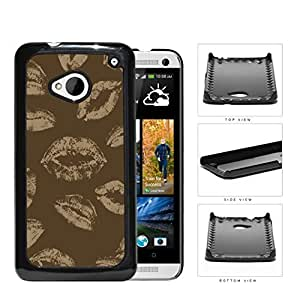 Brown Art Light Brown Kisses Hard Plastic Snap On Cell Phone Case HTC One M7