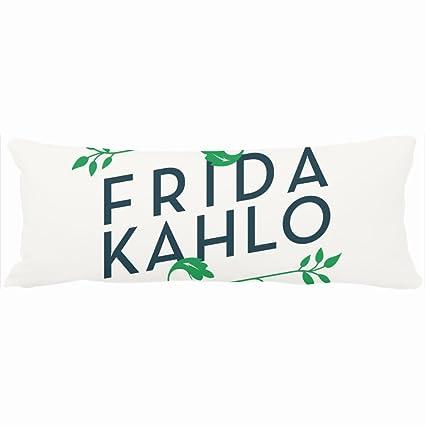 Diseño de flores de almohadas Frida Kahlo tipografía Panel único diseño decoración para el hogar funda