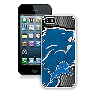 Beautiful Designed Case With Detroit Lions 04 White For iPhone 5S Phone Case