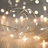 Magicnight Valentine's Day Warm White 10ft 30 Mini Micro LED Copper Starry Fairy Strings Lights AA Battery Powered Operated Set of 1