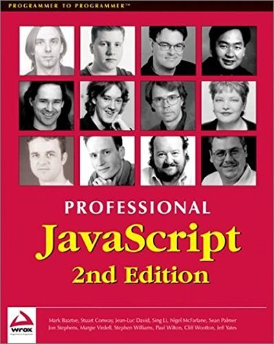 Professional JavaScript 2nd Edition by Nigel McFarlane (2001-10-03)