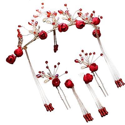 MDRW-Accessoires De Cheveux De Mariée En Épingle À Cheveux/Mariage/fête/femme la robe de coiffe rouge ornements pour des fleurs des bijoux palace.