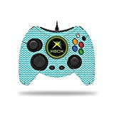 MightySkins Skin for Microsoft Xbox One Hyperkin Duke Controller - Turquoise Chevron | Protective, Durable, and Unique Vinyl Decal wrap Cover | Easy to Apply and Remove | Made in The USA