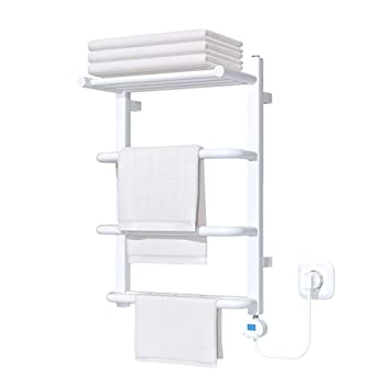 Toallero Calefactado, Calentador De Toalla Profesional, Accesorios TermostáTicos De BañO De Acero Al Carbono