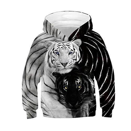Tsyllyp Boys Girls Tiger 3D Graphic Sweatshirts Long Sleeve Pullover Hoodies