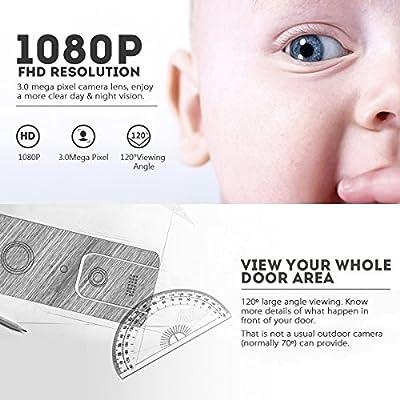 Wifi Video Doorbell, DIGOO SB-XYA 5 in 1 Ring Video Doorbell with