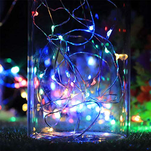 (Barhalk 5 Pack Cork Shaped Led Night Light 1m 10Led Starry String Wine Bottle Stopper Lamp Copper Wire String Lights Fairy Lamps for Barbecue, Halloween, Square, Garden (Multicolor))