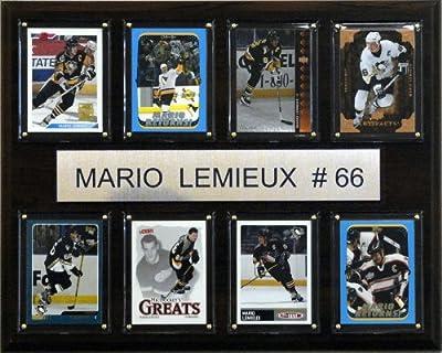 NHL Mario Lemieux Pittsburgh Penguins 8 Card Plaque