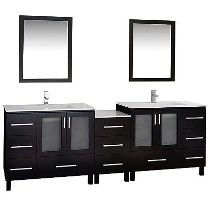 Delicieux Design Element Galatian Double Sink Vanity Set, 88 Inch   Vanity Mirrors    Amazon.com