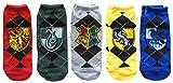 Harry Potter Juniors/Womens 5 Pack Ankle Socks Shoe Size 4-10