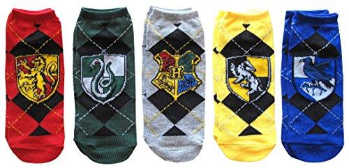 Harry Potter House Crests Argyle 5 Pack Ankle Socks
