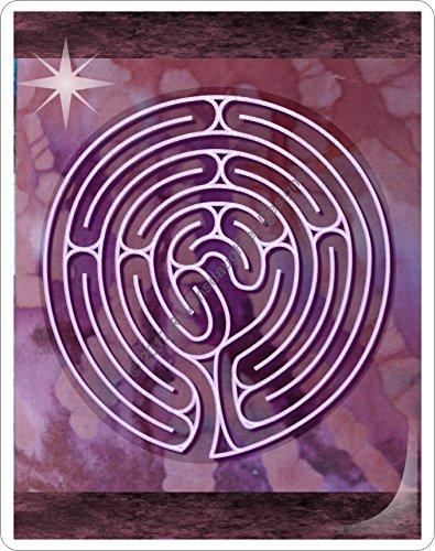 Finger Labyrinth Laminated Card 6-Pack 2: Focus Tools for Stress, Anxiety, PTSD, ADHD & Autism by Mandalynths (Image #7)