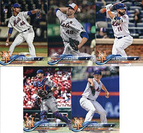 2018 Topps Update Series BaseballYork Mets Team Set of 10 Cards: P.J. ConlonCorey Oswalt(#US13), Jason Vargas(#US17), Gerson Bautista/Luis Guillorme(#US103), Devin Mesoraco(#US133), Juan Lagares(#US166), Jacob deGrom(#US177), Gerson Bautista(#US181), Todd Frazier(#US213), Jose Bautista(#US221), Jay Bruce(#US275)