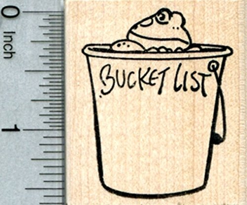 Bucket List Frog Rubber Stamp ()