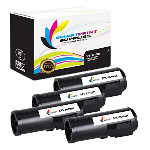 Smart Print Supplies Compatible 106R02731 Black High Yield Toner Cartridge Replacement for Xerox Phaser 3610, WorkCentre 3615 Printers (25,300 Pages) - 4 Pack ()