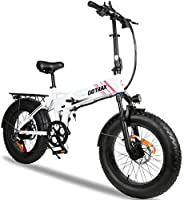 GOTRAX EBE4 20inch Folding Electric Bike Fat Tire with 48V 10Ah Removable Battery, 350W Powerful Motor up 20mp