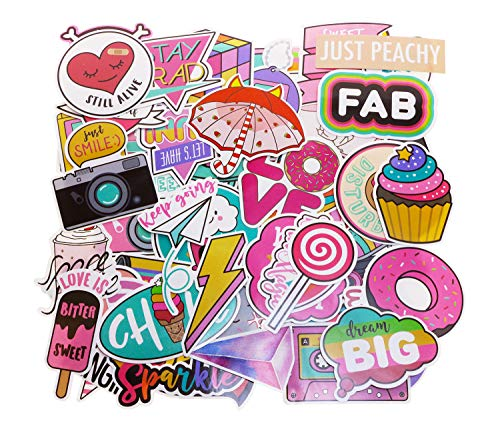 Penta Angel 90Pcs Cute Laptop Stickers Water Bottle Luggage Skateboard Car Motorcycle Bicycle Bike Cell Phone Guitar Sticker Decal Graffiti Patches for Kids Girls Teens Adults Scrapbooking (90 pieces)