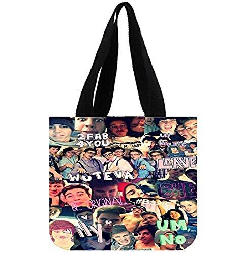 Emana Cameron Dallas and Nash Grier Cotton Canvas Handbag Shoulder Totes Bag for Girls Shopping