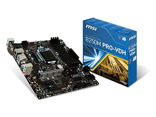 MSI Pro Series Intel B250 LGA 1151 DDR4 HDMI USB 3.1 Micro-ATX Motherboard (B250M PRO-VDH) (Celeron Pci Motherboard)