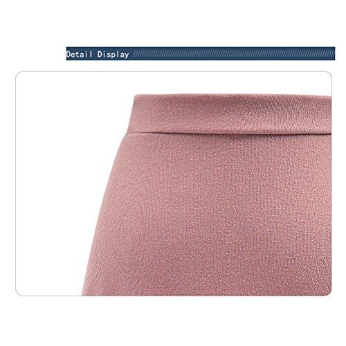 DiiZii de Jupe Femme Rtro irrgulire Femme rose Fluide Vintage Jupe Hiver Longue Haute Rouge Chic Taille lgante Jupe pour Taille Hautes IIBrz