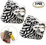 Kyпить Fansport Cigarette Holder Ring Hands Free Lion Shaped Smoking Rings Cigarette Rings for Game Players (Silver) на Amazon.com