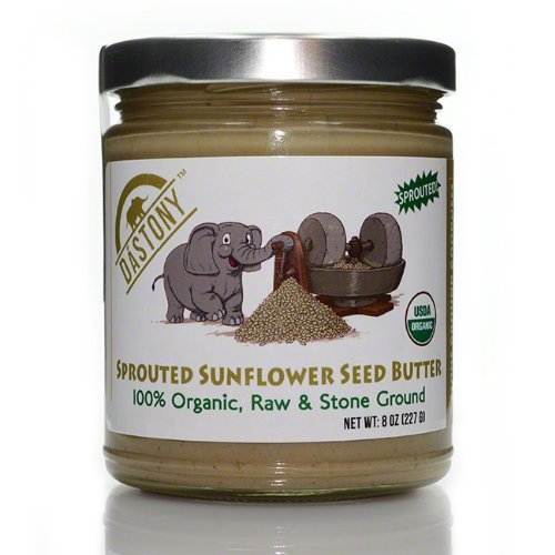 Dastony - Stone Ground Nut & Seed Butters: 01/8 oz Jar of Organic Sprouted Sunflower Seed 100%