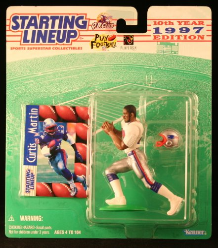 Green Card Bill - CURTIS MARTIN / NEW ENGLAND PATRIOTS 1997 NFL Starting Lineup Action Figure & Exclusive NFL Collector Trading Card