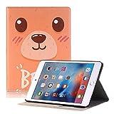 Hulorry iPad 7.9 case Mini 4, Slim Case with Card Slots Heavy Duty Cover Cute Cartoon Folio Case Screen Protective Case for iPad Mini 4 7.9 inch