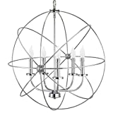 Revel/Kira Home Orbits II Large 24″ 5-Light Modern Sphere/Orb Chandelier, Chrome Finish Review