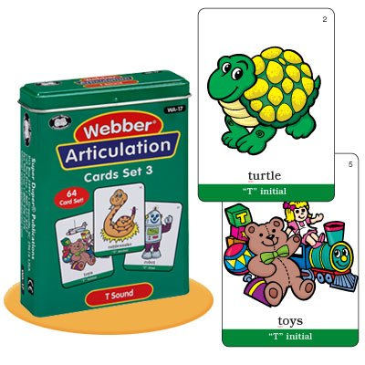Super Duper Publications Set of 7 Webber Articulation Card Decks with Animal Artic Pairs (Combo Set 3) Educational Learning Resource for Children by Super Duper Publications (Image #3)